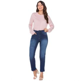 Calça Mom Jeans Biotipo Azul Medio