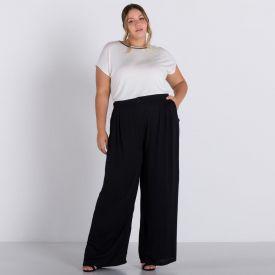 Calça Pantalona Patricia Foster Mais Preto