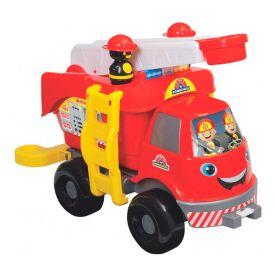 Caminhão de Bombeiro Grande Mercotoys - Vermelho