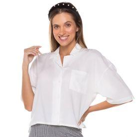 Camisa com Ombro Descolado Boby Blues Off White