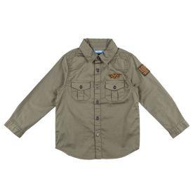 Camisa de 1 a 3 Anos Militar com Patchs Yoyo Kids Militar