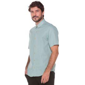 Camisa em Algodão Flame Marc Alain Azul Nuvem
