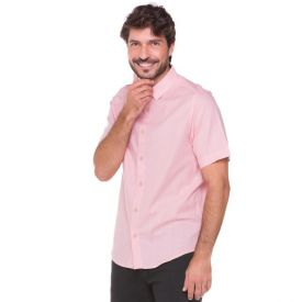 Camisa em Algodão Flame Marc Alain Rosa
