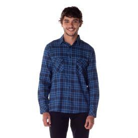Camisa Flanela com Lapela Thing Var.10-Marinho