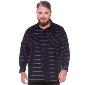 Camisa Flanela Manga Longa Plus Size Overlook Mrnho