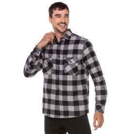 Camisa Flanela Xadrez com Bolsos Marc Alain