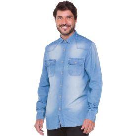 Camisa Jeans com Bolsos Marc Alain Denim