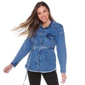 Camisa Jeans com Faixa Boby Blues Blue