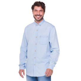 Camisa Jeans com Um Bolso Marc Alain Denim Claro
