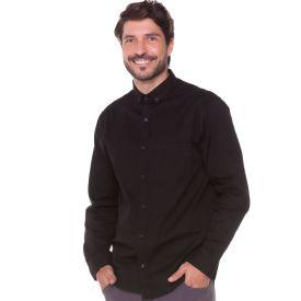 Camisa Jeans com Um Bolso Marc Alain Preto