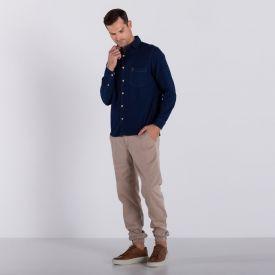 Camisa Jeans Manga Longa Marc Alain Blue Escuro