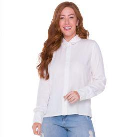 Camisa Listrada Patrícia Foster Off White