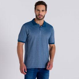 Camisa Polo Básica com Filete Marc Alain Petroleo