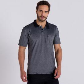Camisa Polo Básica Marc Alain Mescla Escuro