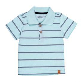 Camisa Polo de Bebê Listrada Alakazoo Verde