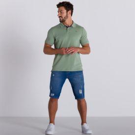 Camisa Polo Malha Piquet Hangar 33 Verde Mineral