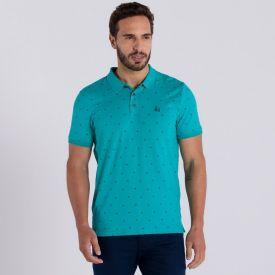 Camisa Polo Manga Curta com Estampa Rotativa Rovitex Cigarrete