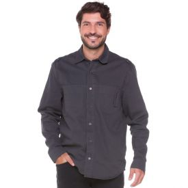 Camisa Sarja com Bolso Deslocado Thing