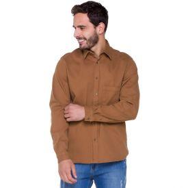 Camisa Sarja Cotelê Thing Caramelo