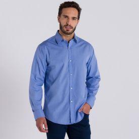 Camisa Social Básica sem Bolso Marc Alain Azul
