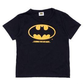 Camiseta 1 a 3 anos M/Malha Batman DC Comics