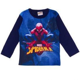 Camiseta 1 a 3 anos M/Malha Spider-Man Marvel Azul Marinho