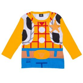 Camiseta 1 a 3 anos Malha Toy Story Disney Amarelo Queimado