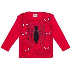 Camiseta 1 a 3 anos Spider Man M/Malha Marvel Vermelho