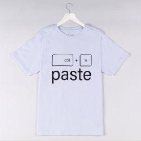 Camiseta 1 a 3 Ctrl V Paste Yoyo Kids Branco