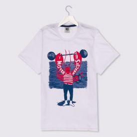 Camiseta 12 a 16 anos Fundo do Mar Hot Dog Branco