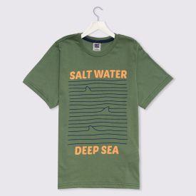 Camiseta 12 a 16 anos Fundo do Mar Hot Dog Verde Hj 51575