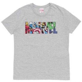 Camiseta 12 a 16 anos M/Malha Heróis da Marvel