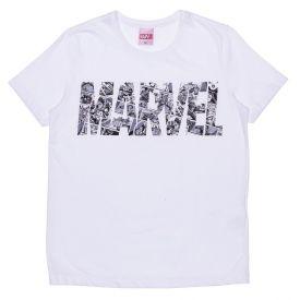 Camiseta 12 a 16 anos Quadrinhos Marvel Branco