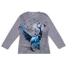 Camiseta 4 a 10 Anos Estampada Batman DC Comics