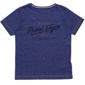 Camiseta 4 a 10 Anos Malha Hangar 33 Marinho