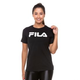 Camiseta Basic Letter Fila Preto/Branco