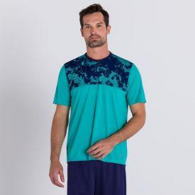 Camiseta Creek Poliéster Body Lab Verde Escuro