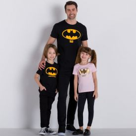 Camiseta Dad Batman Fakini Preto