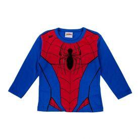 Camiseta de 1 a 3 Anos Malha Homem Aranha Marvel Azul Escuro