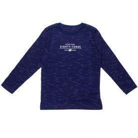 Camiseta de 4 a 10 Anos Malha Flamê Jet Fico Marinho