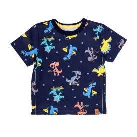 Camiseta de Bebê Dinossauros Alakazoo Marinho