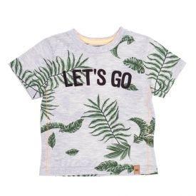 Camiseta de Bebê Estampada Let's Go Alakazoo Mescla Claro