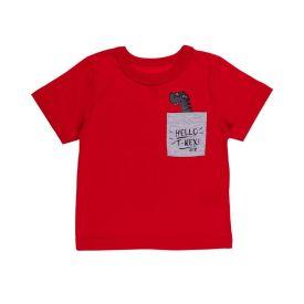 Camiseta de Bebê Malha Dino Alakazoo Vermelho