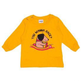 Camiseta de Bebê Malha Interativa Dog Fakini Amarelo Queimado