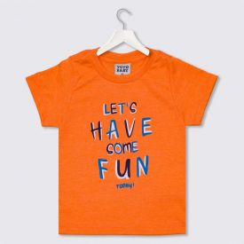 Camiseta de Bebê Menino Let's Have Yoyo Baby Laranja