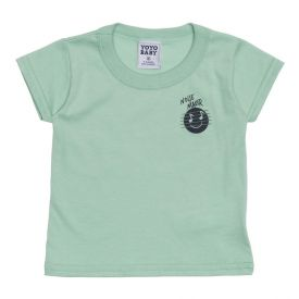 Camiseta de Bebê Menino Noise Maker Yoyo Baby Verde Claro