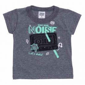 Camiseta de Bebê Menino Noise Yoyo Baby Mescla Dark
