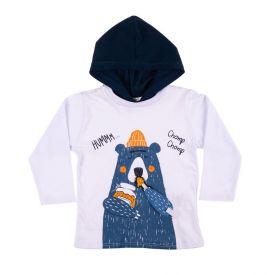 Camiseta de Bebê Urso Rovitex Kids Branco