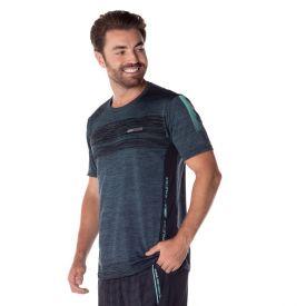 Camiseta Dry com Estampa Local Surf Azul/Mescla