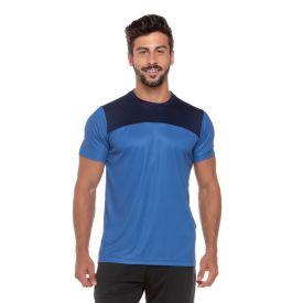 Camiseta Dry com Recorte Frontal Scream Marinho
